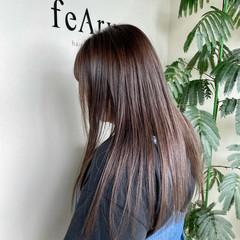 髪質改善カラー ナチュラル ロング 髪質改善トリートメント ヘアスタイルや髪型の写真・画像