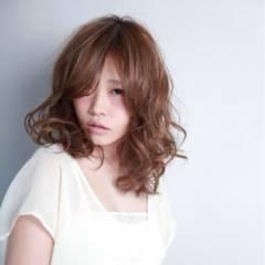 愛され モテ髪 フェミニン ミディアム ヘアスタイルや髪型の写真・画像