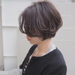 3Dカラー ショート ショートボブ ナチュラル ヘアスタイルや髪型の写真・画像