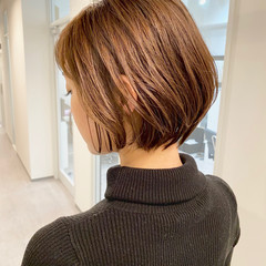 ショートヘア デート ナチュラル ショートボブ ヘアスタイルや髪型の写真・画像