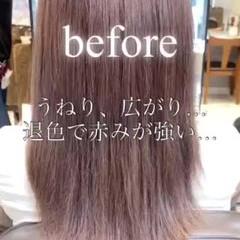 髪質改善トリートメント ナチュラル 髪質改善 レイヤーカット ヘアスタイルや髪型の写真・画像
