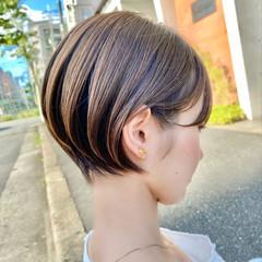 ミニボブ ベリーショート ショートボブ ショート ヘアスタイルや髪型の写真・画像
