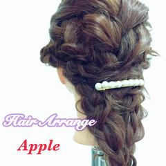 成人式 こなれ感 セミロング ヘアアレンジ ヘアスタイルや髪型の写真・画像