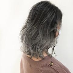 デザインカラー ボブ ストリート ブリーチカラー ヘアスタイルや髪型の写真・画像