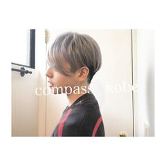 アッシュ 無造作 坊主 モテ髪 ヘアスタイルや髪型の写真・画像