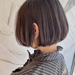 銀座美容室 髪質改善カラー ボブ 前下がりボブ ヘアスタイルや髪型の写真・画像