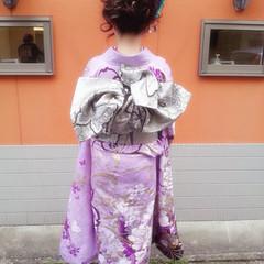 成人式 着物 ロング ヘアアレンジ ヘアスタイルや髪型の写真・画像