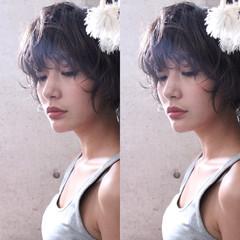 ウェーブ 秋 ニュアンス 透明感 ヘアスタイルや髪型の写真・画像