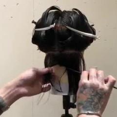 スパイラルパーマ ワンカールパーマ ミディアム 毛先パーマ ヘアスタイルや髪型の写真・画像