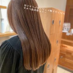 ロング 髪質改善トリートメント 透明感カラー 髪質改善 ヘアスタイルや髪型の写真・画像