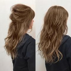 外国人風 ロング デート ガーリー ヘアスタイルや髪型の写真・画像