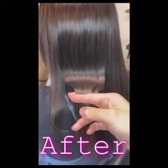 髪質改善 ロング ナチュラル グレージュ ヘアスタイルや髪型の写真・画像