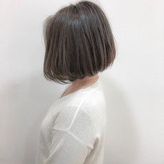 切りっぱなし エレガント 色気 ショートボブ ヘアスタイルや髪型の写真・画像