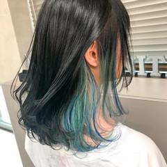 ダブルカラー ストリート ミディアム グラデーションカラー ヘアスタイルや髪型の写真・画像