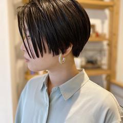 モード ショート ショートボブ ショートヘア ヘアスタイルや髪型の写真・画像