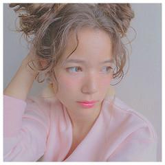 愛され ヘアアレンジ 簡単ヘアアレンジ モテ髪 ヘアスタイルや髪型の写真・画像