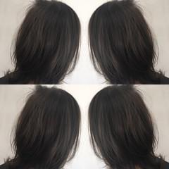 コントラストハイライト スライシングハイライト 大人ハイライト ナチュラル ヘアスタイルや髪型の写真・画像