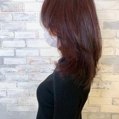 韓国ヘア ナチュラル ミディアム ゆるふわ ヘアスタイルや髪型の写真・画像