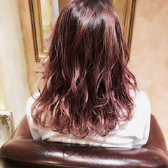 イルミナカラー セミロング 外国人風 ハイライト ヘアスタイルや髪型の写真・画像