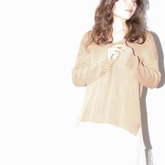 ゆるふわ フェミニン 大人かわいい セミロング ヘアスタイルや髪型の写真・画像