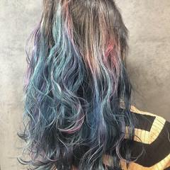 ブリーチ フェミニン 波ウェーブ ロング ヘアスタイルや髪型の写真・画像