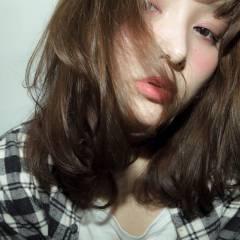 モード 大人かわいい ナチュラル ミディアム ヘアスタイルや髪型の写真・画像