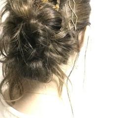 ゆるふわ ヘアアレンジ ロング 簡単ヘアアレンジ ヘアスタイルや髪型の写真・画像