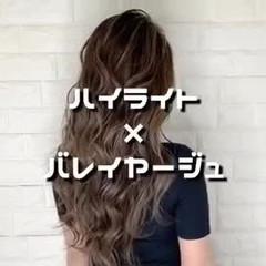 ハイライト ロング ダブルカラー 外国人風 ヘアスタイルや髪型の写真・画像