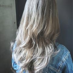 アッシュ 外国人風カラー かっこいい ハイライト ヘアスタイルや髪型の写真・画像