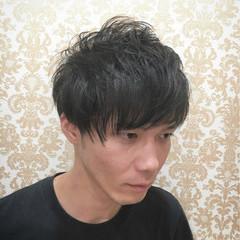 外国人風 エアリー 坊主 黒髪 ヘアスタイルや髪型の写真・画像