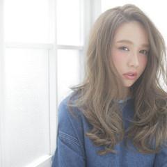 ストリート フェミニン 外国人風 セミロング ヘアスタイルや髪型の写真・画像
