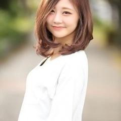 大人ミディアム 外国人風カラー 大人かわいい 透明感カラー ヘアスタイルや髪型の写真・画像