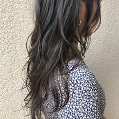 ナチュラル クールロング ロングヘア ロングヘアスタイル ヘアスタイルや髪型の写真・画像