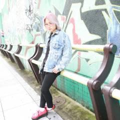 グラデーションカラー ボブ ストリート 外国人風 ヘアスタイルや髪型の写真・画像