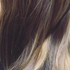ハイライト ミディアム ナチュラル ニュアンス ヘアスタイルや髪型の写真・画像