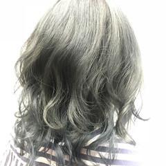 モード ミディアム ブルージュ ヘアスタイルや髪型の写真・画像