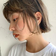 レイヤースタイル ナチュラル ボブ ミニボブ ヘアスタイルや髪型の写真・画像