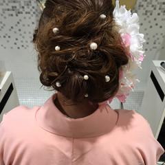 ヘアアレンジ ロング アッシュブラウン ヘアスタイルや髪型の写真・画像
