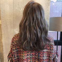 暗髪 結婚式 オフィス セミロング ヘアスタイルや髪型の写真・画像