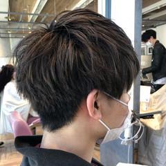 メンズマッシュ メンズヘア ナチュラル ショート ヘアスタイルや髪型の写真・画像