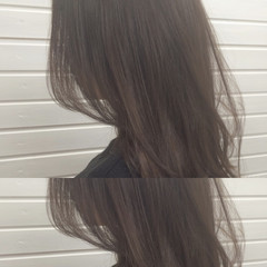 ナチュラル イルミナカラー グレージュ セミロング ヘアスタイルや髪型の写真・画像