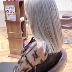 ハイトーン 艶髪 ストリート ハイトーンボブ ヘアスタイルや髪型の写真・画像