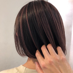 極細ハイライト ストリート ハイライト ローライト ヘアスタイルや髪型の写真・画像