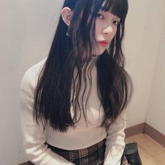 暗髪バイオレット 暗髪女子 ダークアッシュ ナチュラル ヘアスタイルや髪型の写真・画像