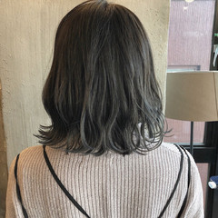 オフィス ボブ 透明感 外国人風カラー ヘアスタイルや髪型の写真・画像