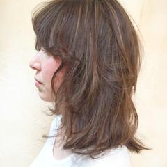 デート オフィス ヘアアレンジ ミディアム ヘアスタイルや髪型の写真・画像