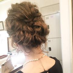 結婚式 デート エレガント 上品 ヘアスタイルや髪型の写真・画像
