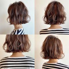 切りっぱなしボブ ショートヘア ボブ ナチュラル ヘアスタイルや髪型の写真・画像