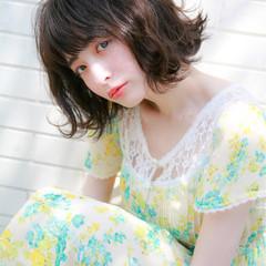 ヘアアレンジ ゆるふわ ガーリー ボブ ヘアスタイルや髪型の写真・画像