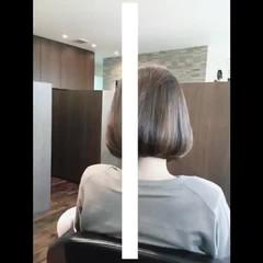 ナチュラル可愛い ボブ 切りっぱなしボブ フェミニン ヘアスタイルや髪型の写真・画像